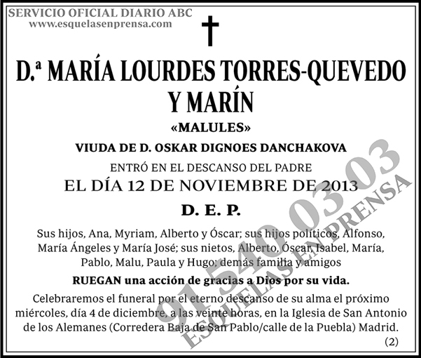 María Lourdes Torres-Quevedo